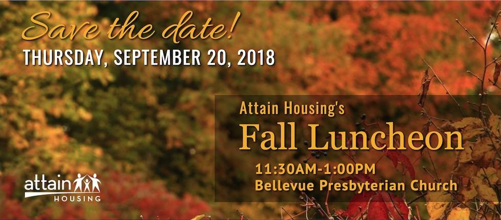 Attain Housing Luncheon, September 20