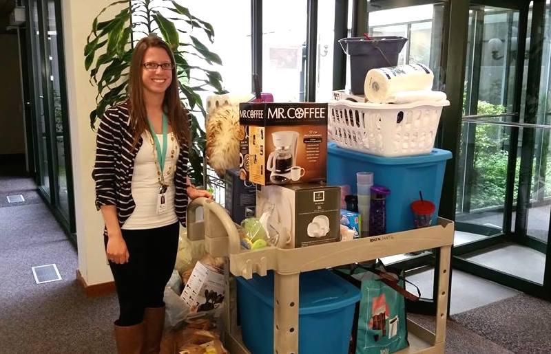 EvergreenHealth donation at nursing drive