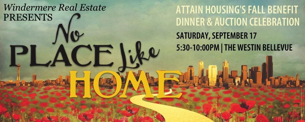 Attain Housing Fall Benefit, September 17, 5:30PM, The Westin Bellevue